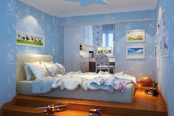 儿童房颜色效果图  让孩子拥有一颗童心