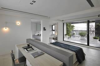 复式简约现代风卧室装修效果图