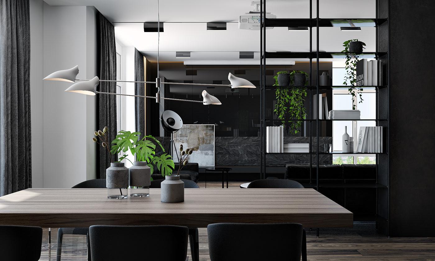 黑色系现代公寓餐厅国国内清清草原免费视频