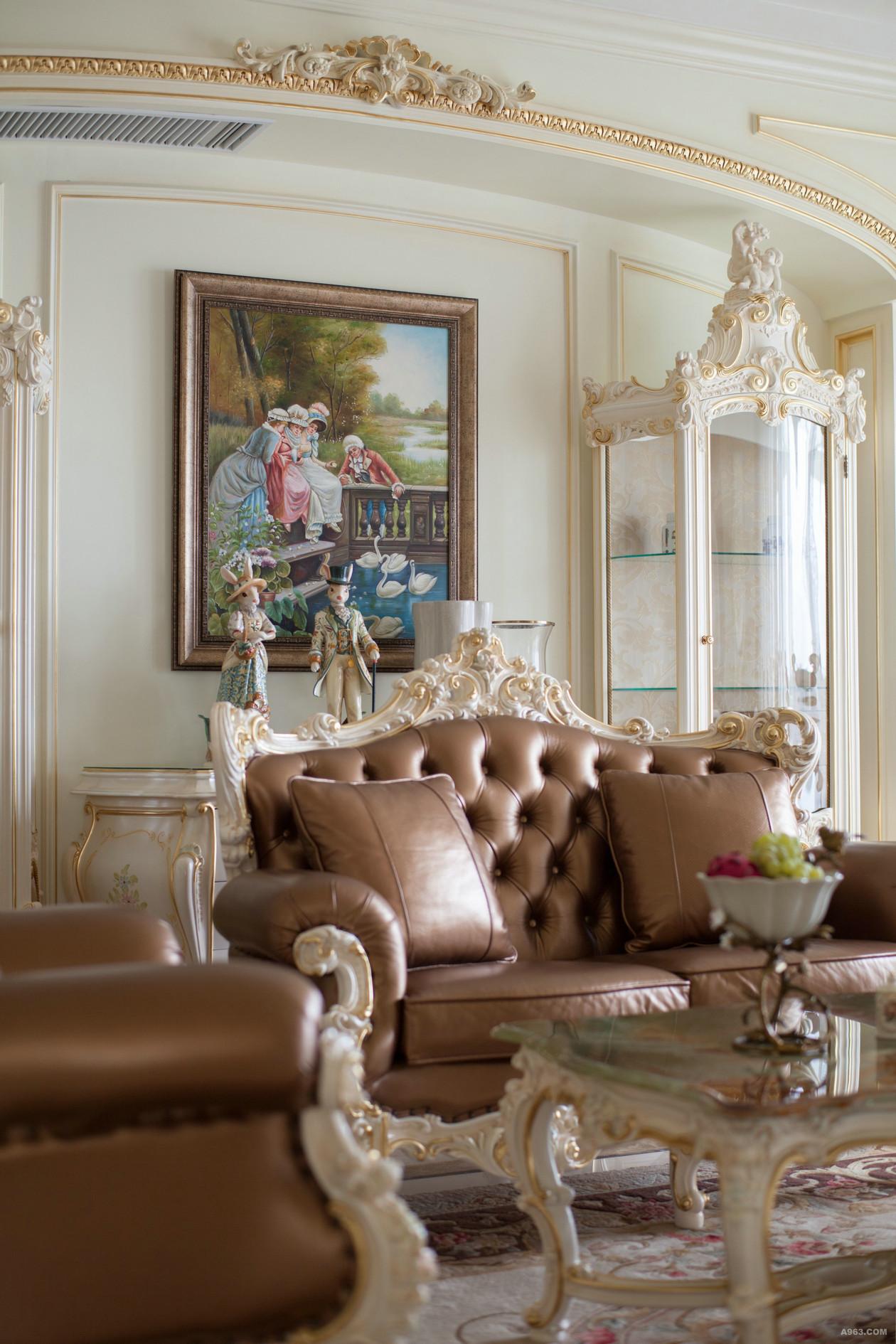 法式豪华别墅装修沙发设计图
