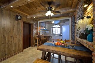 二居室美式乡村风格餐厅装修效果图