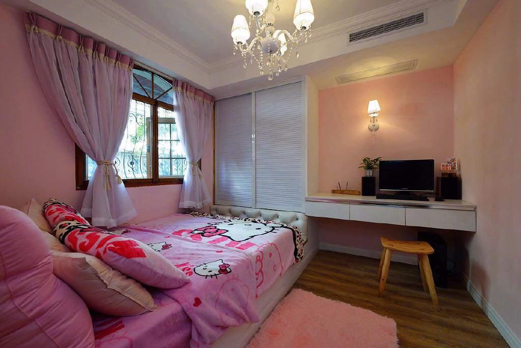二居室美式乡村风格儿童房装修效果图