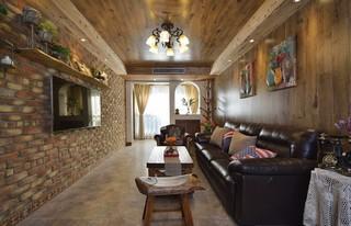 二居室美式乡村风格客厅装修效果图