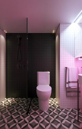22㎡小户型公寓卫生间装修效果图