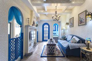 65㎡地中海风格客厅装修效果图