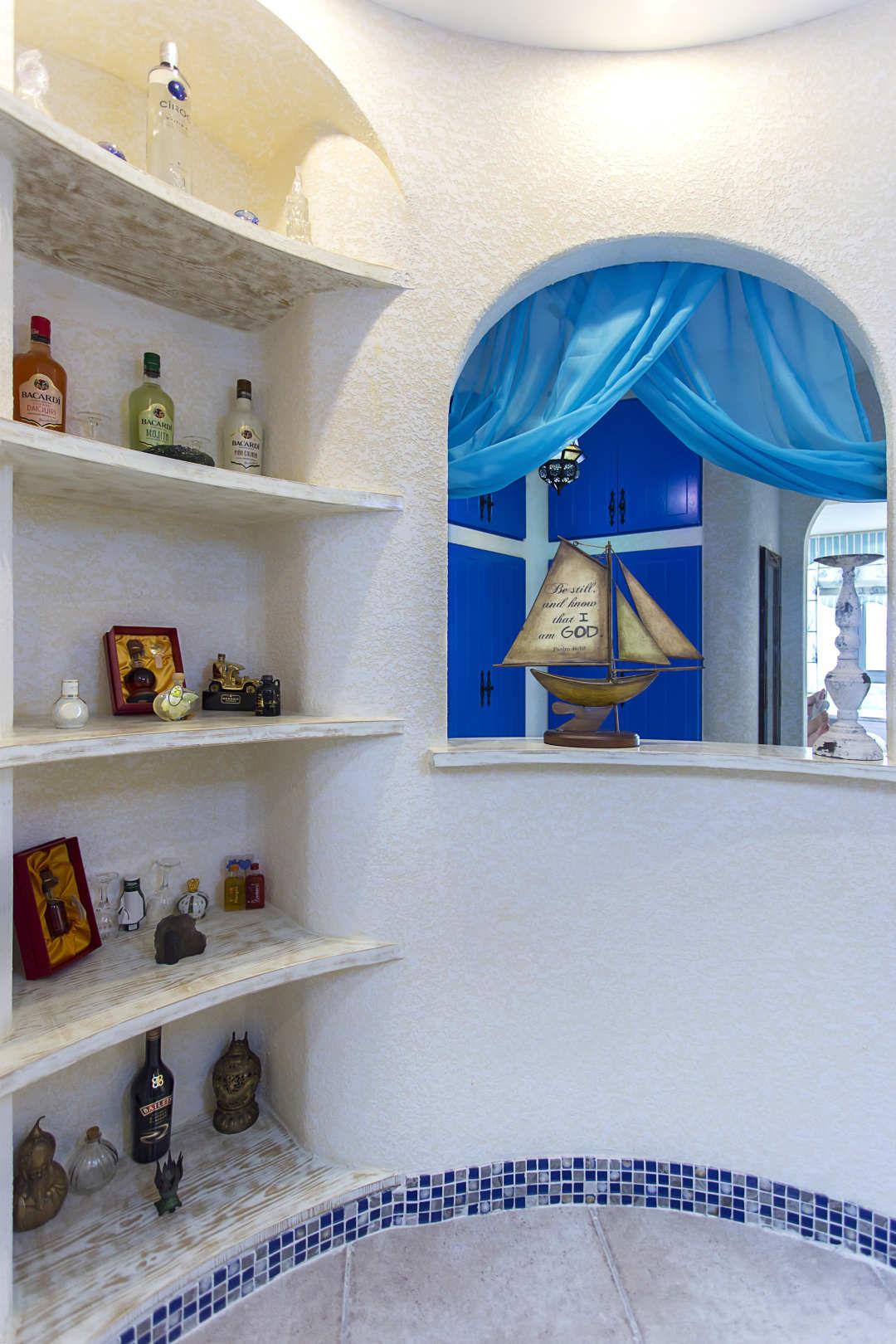 65㎡地中海风格装修壁龛设计图