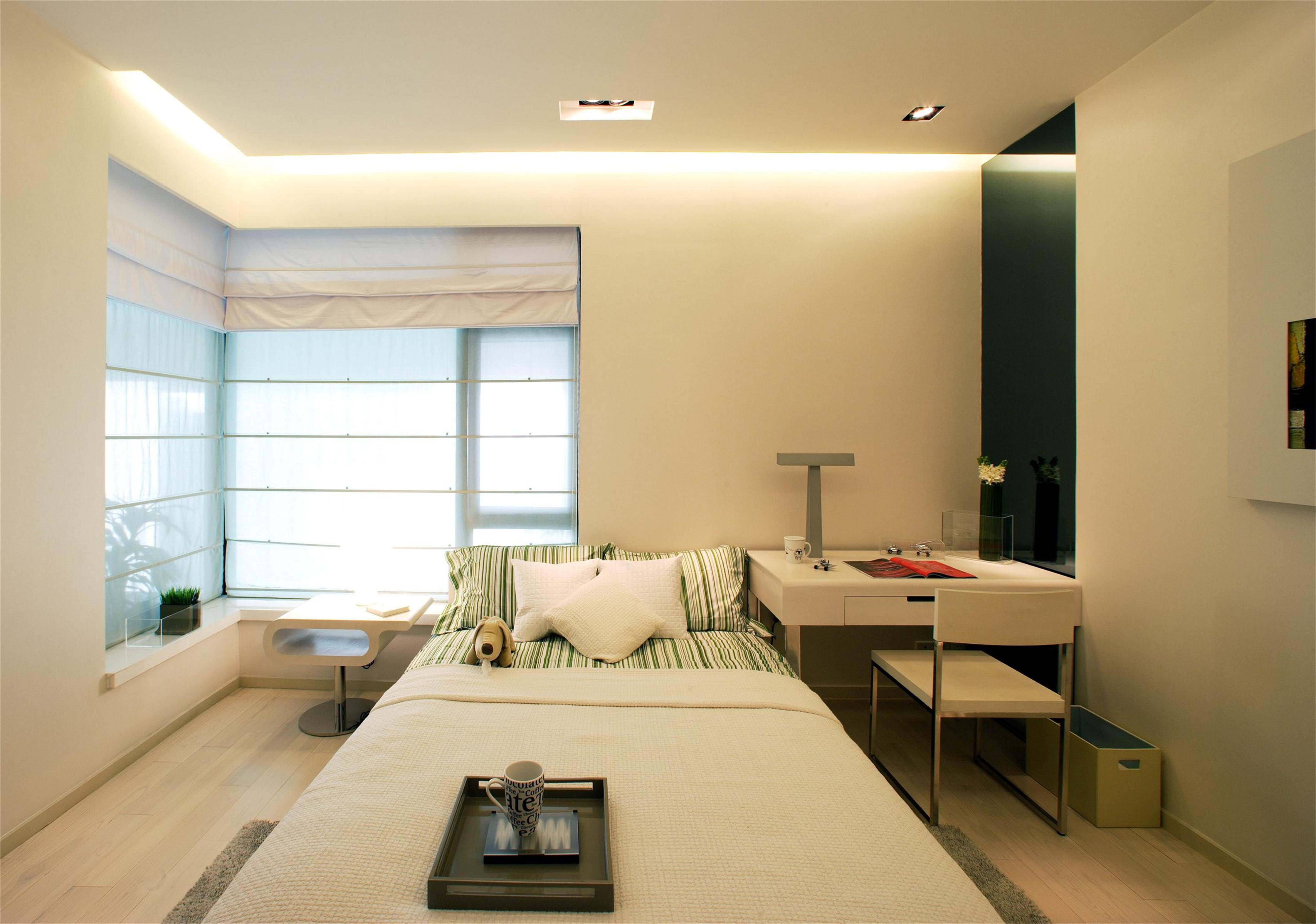 简约现代复式别墅卧室装修效果图