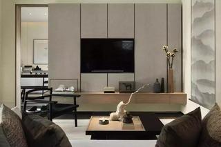 160平新中式风格电视背景墙装修效果图
