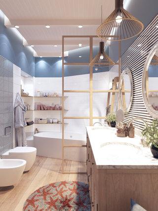 120平米三居室卫生间装修效果图