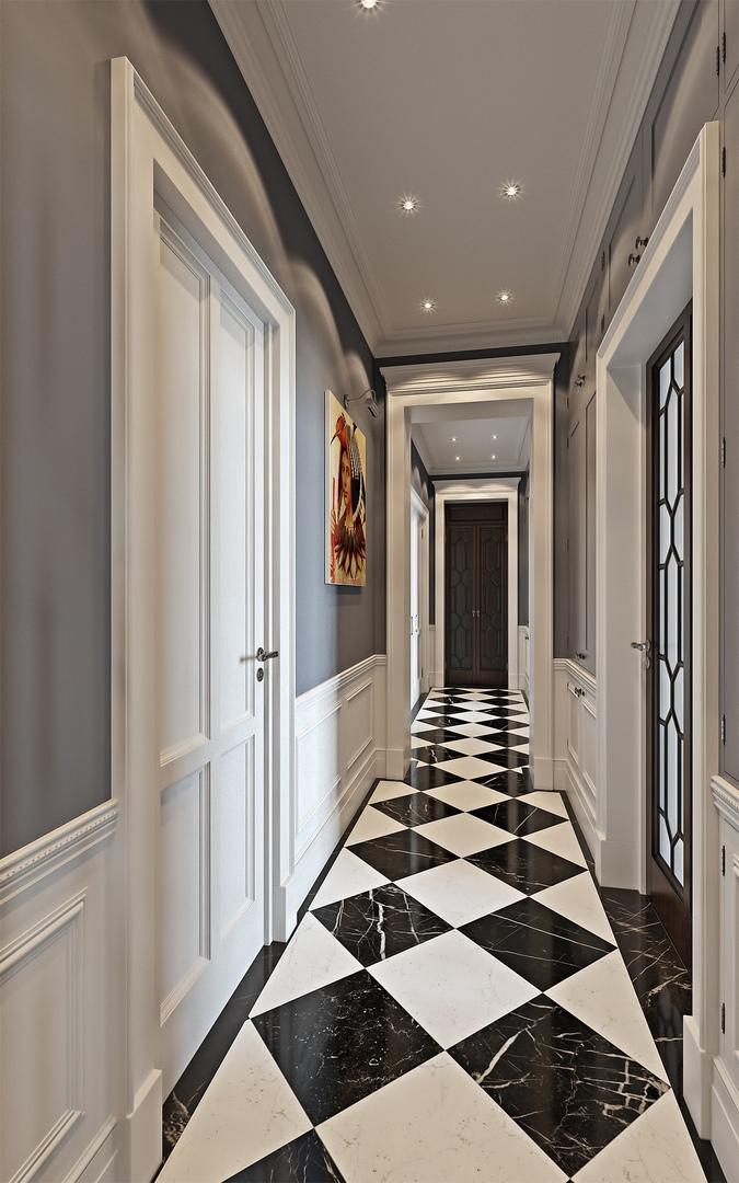 法式新古典风格走廊装修效果图