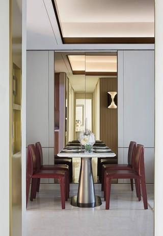 轻奢现代样板房餐厅装修效果图