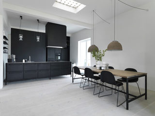 黑白简约现代公寓装修效果图