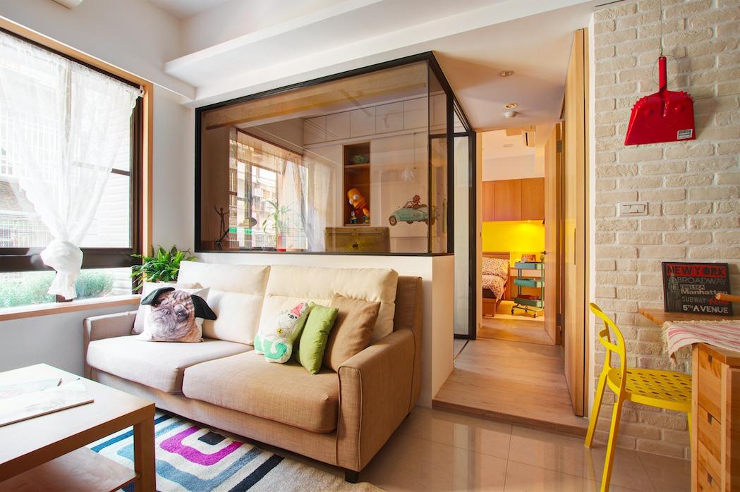 66平小户型公寓装修沙发设计图