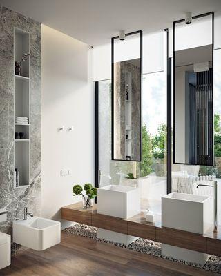 现代复式别墅卫生间装修效果图