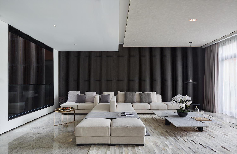 现代风格别墅装沙发背景墙修效果图