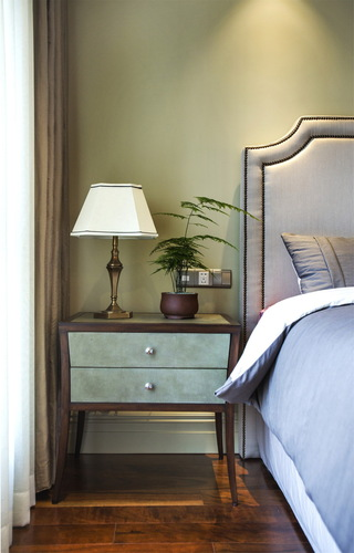 大户型美式风格装修床头柜设计图