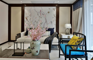 新中式风格四房装修效果图