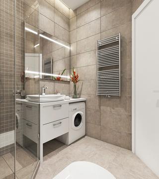 小户型简约风格公寓卫生间装修效果图