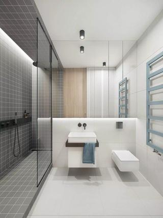 50平简约风格公寓卫生间装修效果图