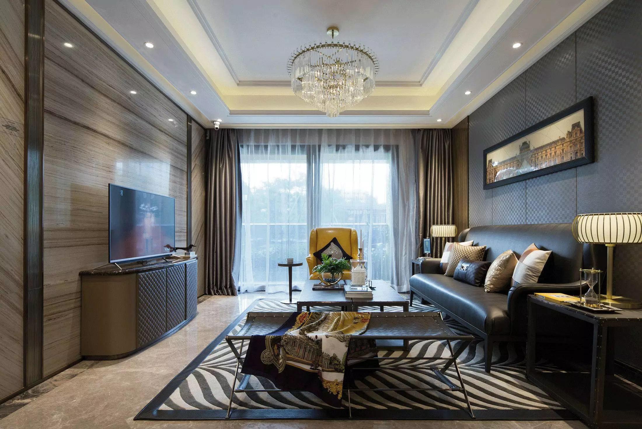 120平三居室装修效果图