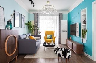北欧风二居室装修效果图