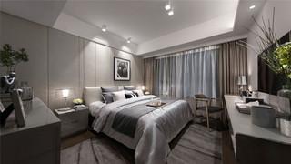 108㎡样板房卧室装修效果图