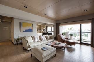 现代台式公寓客厅装修效果图