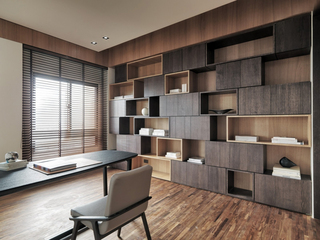 现代台式公寓书房装修效果图