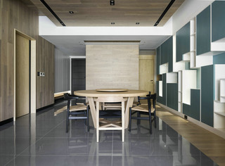 148m²台式简约风餐厅装修效果图
