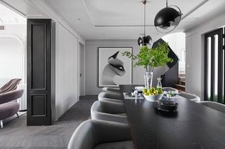 240平复式公寓餐厅装修效果图