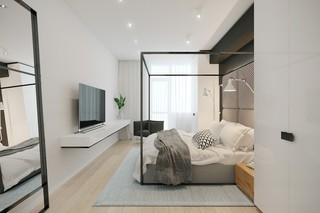 Loft简约风卧室装修效果图