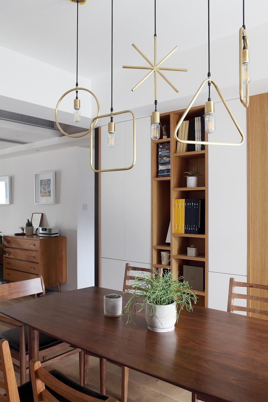 160㎡北欧风装修餐厅吊灯设计图