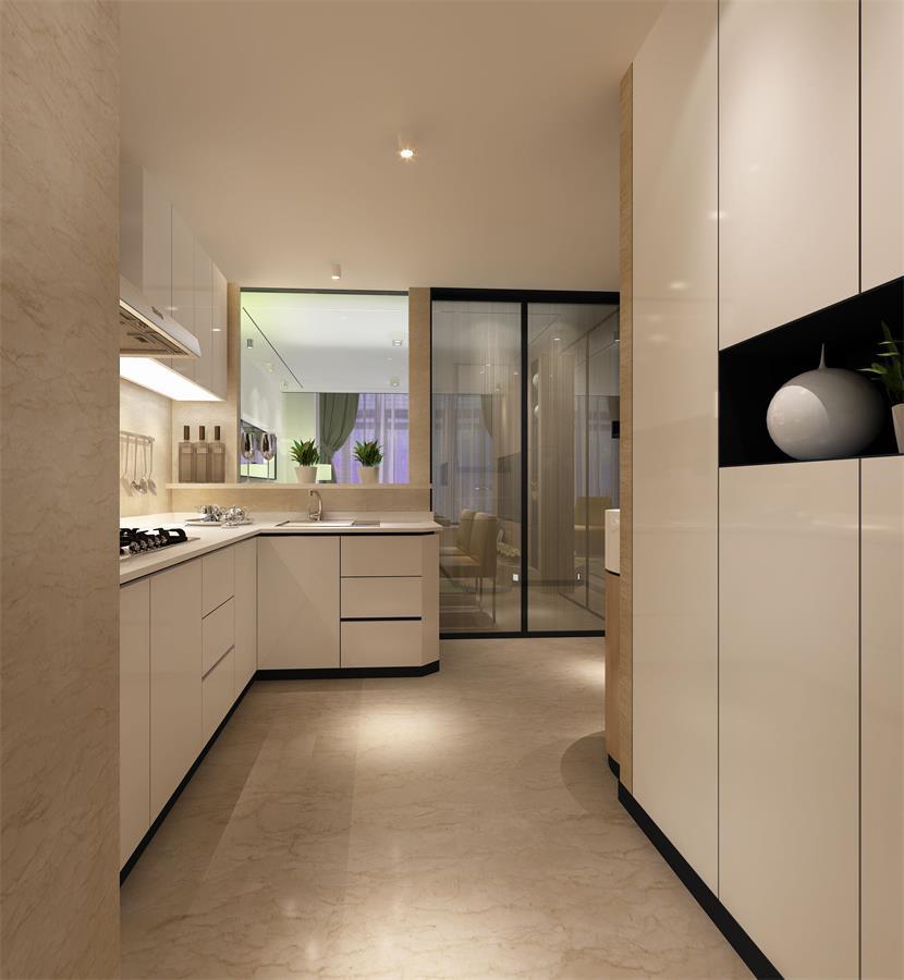 复式现代简约厨房装修效果图