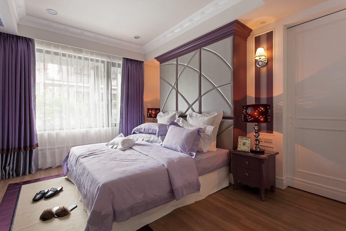 简欧风格三居卧室装修效果图