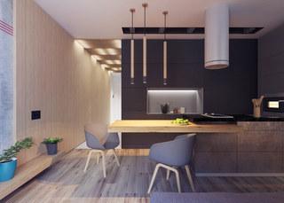 小户型公寓厨餐厅装修效果图