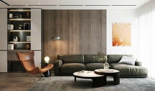 现代混搭公寓装修效果图