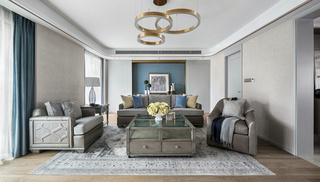 178平现代美式客厅装修效果图