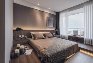 122㎡现代简约卧室装修效果图