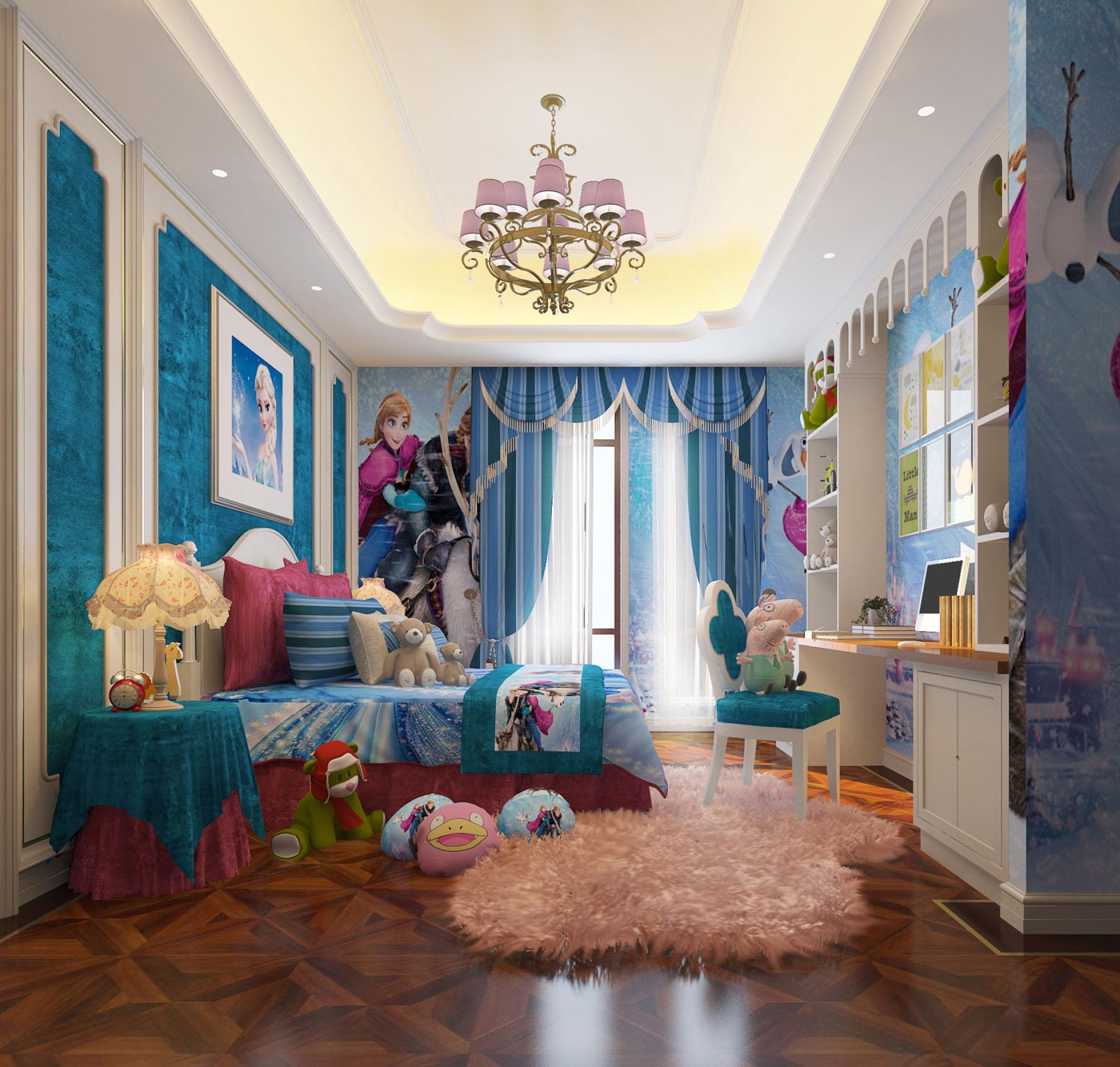 奢华法式别墅儿童房装修效果图