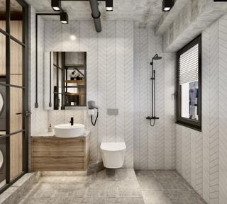 工业风格两居卫生间装修效果图