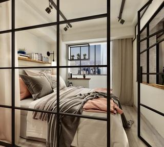 工业风格两居卧室装修效果图