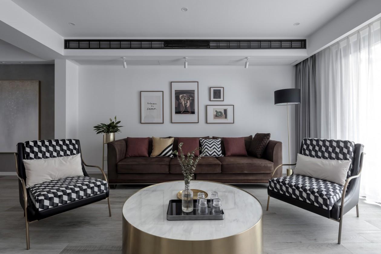 复式现代风沙发墙装修效果图