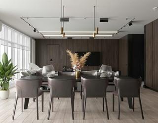 100平现代风公寓装修效果图