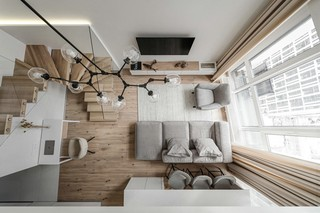 极简LOFT公寓客厅装修效果图