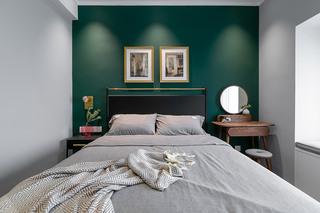 85平米复古风卧室装修效果图
