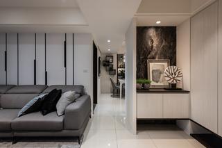 现代风格四居室过道装修效果图