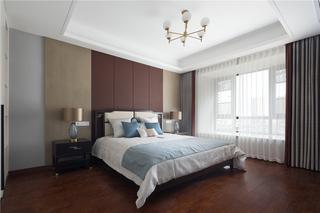 中式风别墅卧室装修效果图