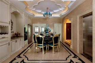 古典欧式别墅餐厅装修效果图