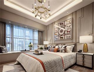 65平轻奢样板间卧室装修效果图