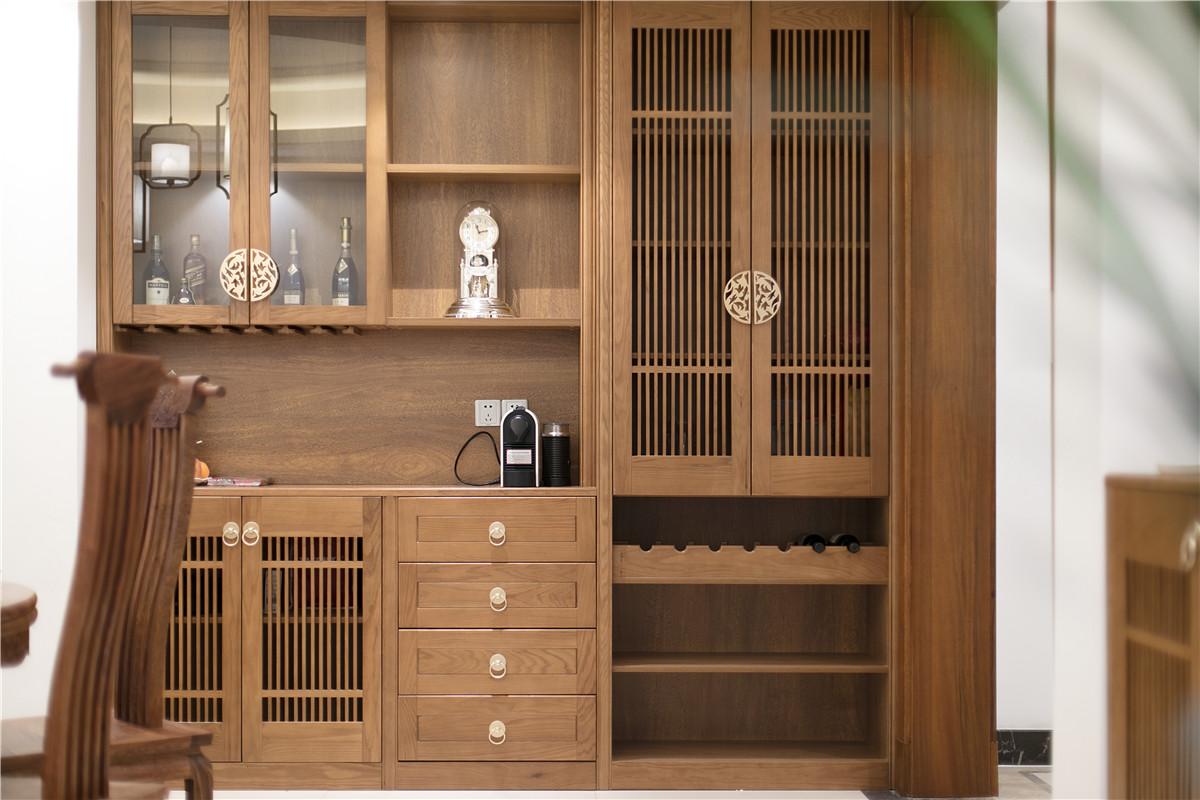 大户型新中式装修酒柜设计图